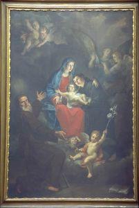 madonna in gloria coi santi
